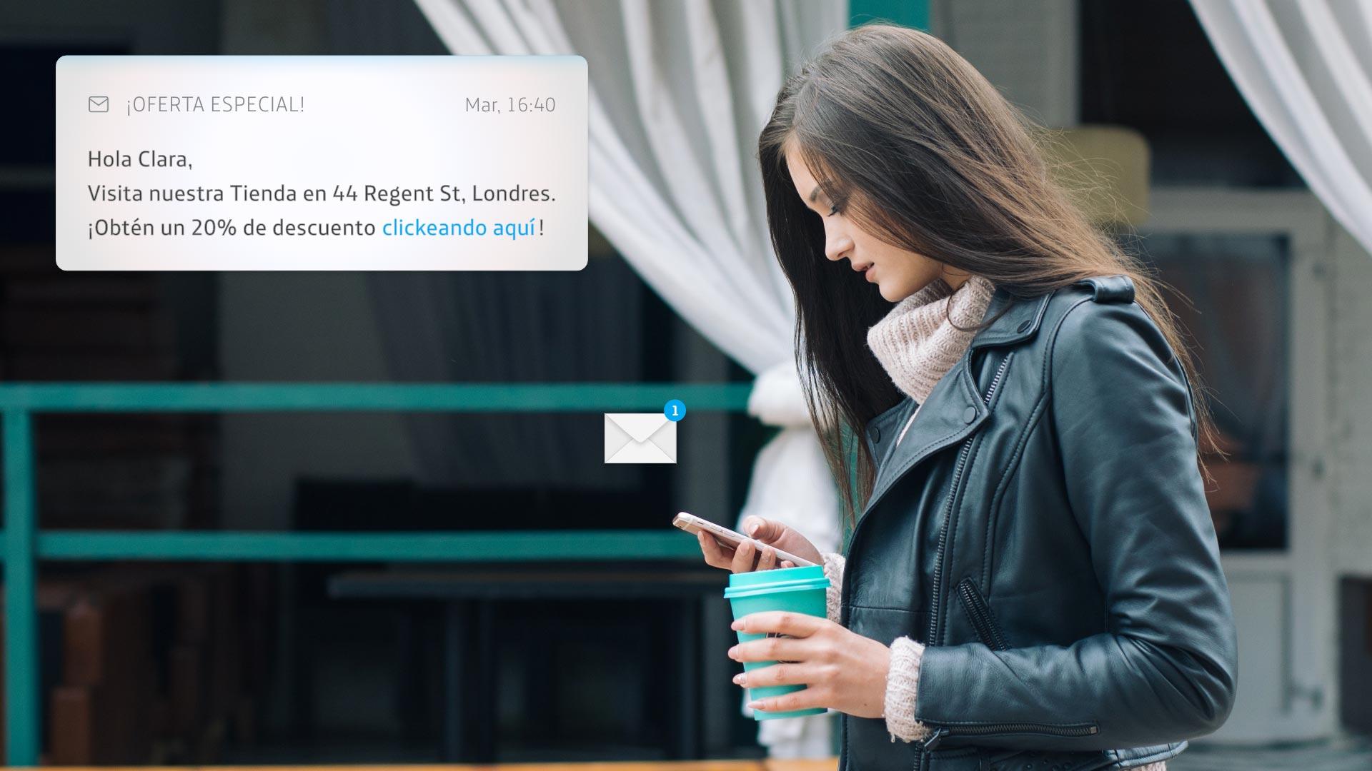 Ofrecemos a la marca la posibilidad de impactar a clientes que previamente han aceptado recibir mensajes de comunicación