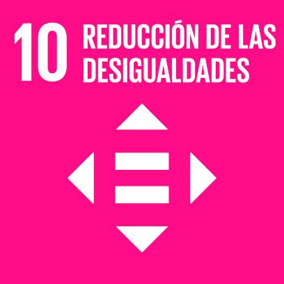 Logo de objetivo por la reducción de las desigualdades