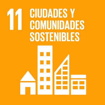 Logo de objetivo por las ciudades y comunidades sostenibles