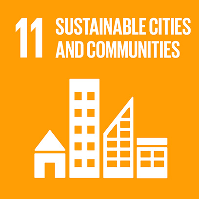 Logo for the goal for sustainable cities and communities