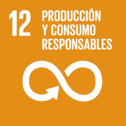 Logo de objetivo por la producción y consumos responsables