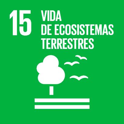 Logo de objetivo por la vida de ecosistemas terrestres