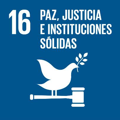 Logo de objetivo por la paz, justicia e instituciones sólidas