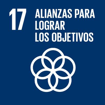 Logo de objetivo por las alianzas para lograr los objetivos