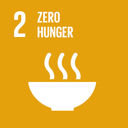 Logo for the goal for zero hunger