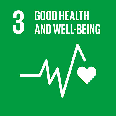 Logo for the goal for good health and well-being