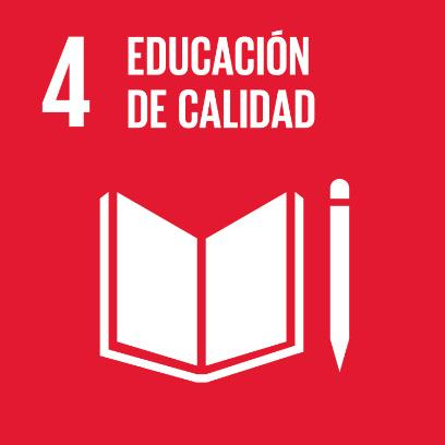 Logo de objetivo por la educación de calidad