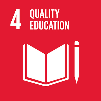Logo for the goal for quality education