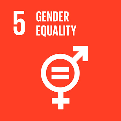 Logo for the goal for gender equality