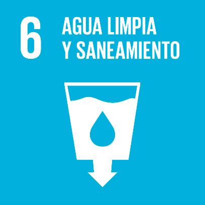 Logo de objetivo por el agua limpia y saneamiento