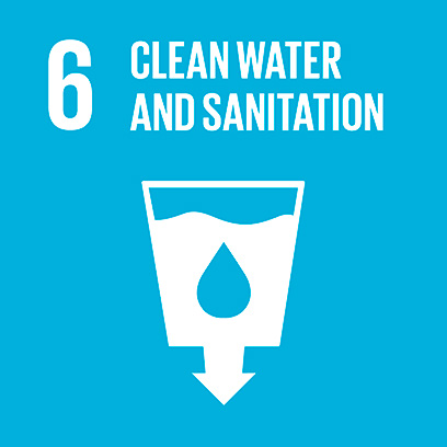 Logo for the goal for clean water and sanitation