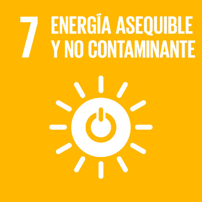 Logo de objetivo por la energía asequible y no contaminante