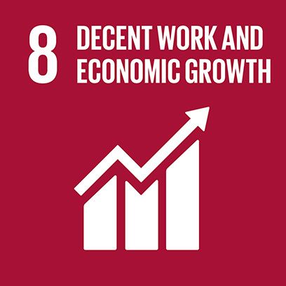 Logo for the goal for decent work and economic growth