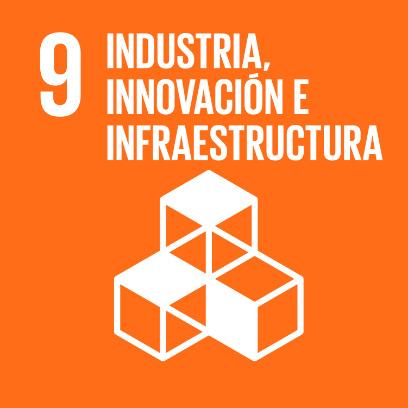 Logo de objetivo por la industria, innovación e infraestructura
