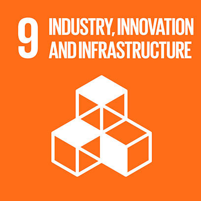 Logo for the goal for industries, innovation and infrastructure