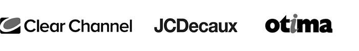 Clear Channel, JCDecaux y Otima logo