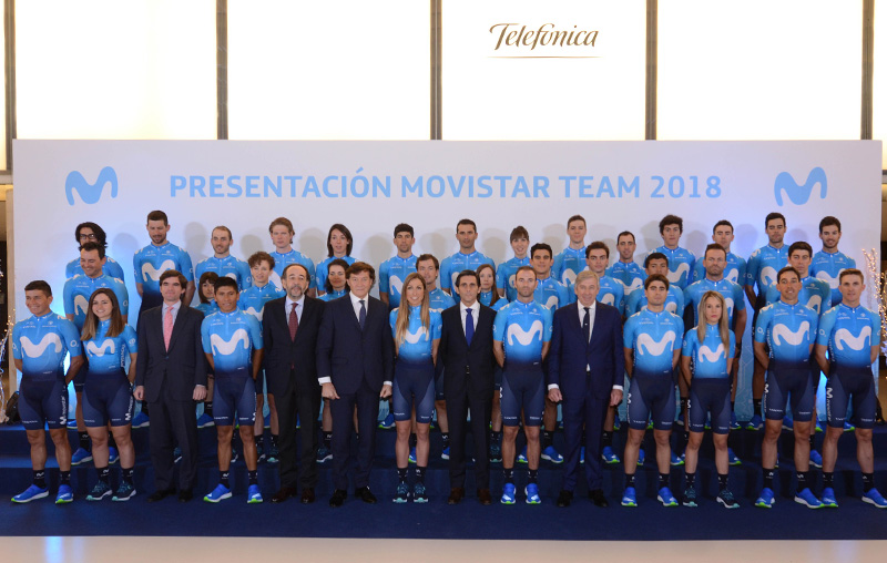 Movistar is presented with the aim of going for Tour and Tour